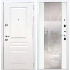 Входная металлическая дверь Сенатор Император 3к СБ-16 Белый Ясень с Зеркалом