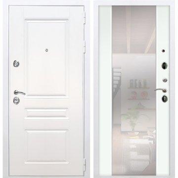 Входная дверь Император 3к СБ-16 Белый Ясень с Зеркалом
