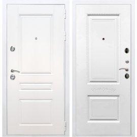 Входная металлическая дверь Сенатор Император 3к Смальта 04 Белый силк сноу