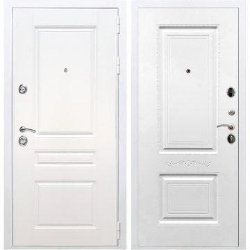 Входная белая дверь Император 3к Смальта 04 Белый силк сноу
