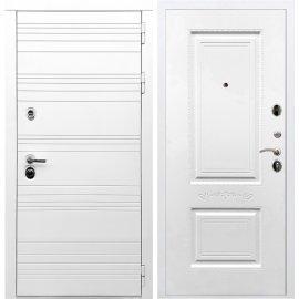 Входная металлическая дверь Сенатор Классика Самальта ФЛ-04 Белый силк сноу