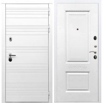 Входная дверь Классика Самальта ФЛ-04 Белый силк сноу