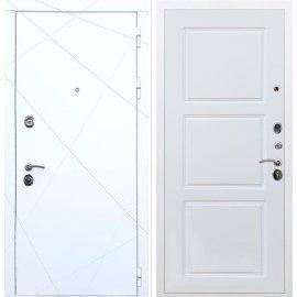 Входная металлическая дверь Сенатор Олимпия - 13 ФЛ-3 Белый силк сноу