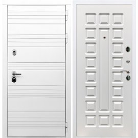 Входная металлическая дверь Сенатор Классика ФЛ-183 Белый ясень