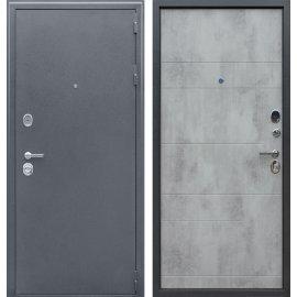Входная металлическая дверь Сенатор Престиж Букле Графит | Бетон светлый