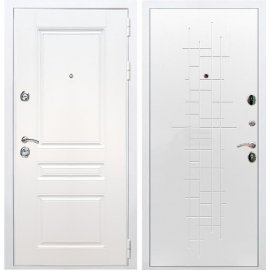 Входная металлическая дверь Сенатор Император 3к ФЛ-289 Белый ясень