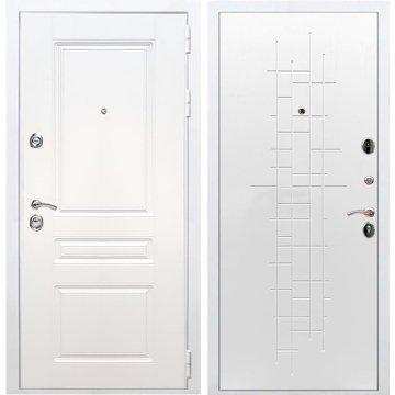 Входная белая дверь Император 3к ФЛ-289 Белый ясень