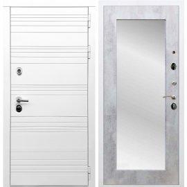 Входная металлическая дверь Сенатор Классика Пастораль с зеркалом Бетон светлый