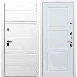 Входная металлическая дверь Сенатор Классика ФЛ-3 Белый силк сноу