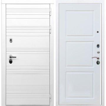 Входная дверь Классика ФЛ-3 Белый силк сноу
