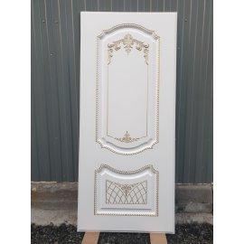Входная металлическая дверь Сенатор Олимпия - 13 ФЛ-317 Белый патина Золото