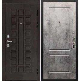 Входная дверь Сенатор с итальянским замком CISA 57.966 Бетон темный