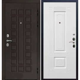 Входная дверь Сенатор с итальянским замком CISA 57.966 Белый силк сноу
