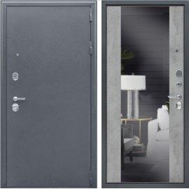 Входная дверь Сенатор Престиж 3к Бетон светлый с зеркалом