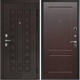 Входная дверь Сенатор с итальянским замком CISA 57.966 ФЛ-117 Орех премиум