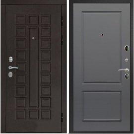 Входная дверь Сенатор с итальянским замком CISA 57.966 ФЛ-117 Софт графит