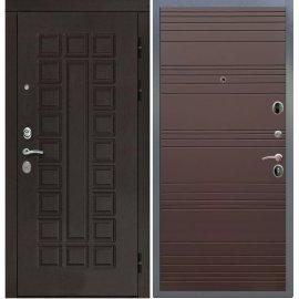 Входная дверь Сенатор с замком CISA 57.966 ФЛ-316 Ясень Шоколад