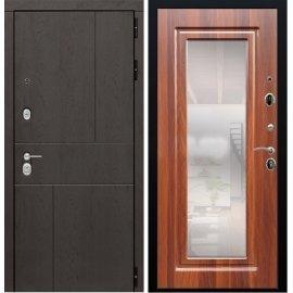 Входная металлическая дверь Сенатор Ультиматум ФЛ-120 Береза морёная с зеркалом