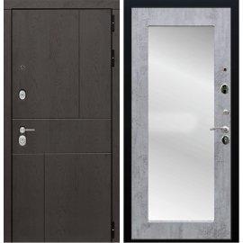Входная металлическая дверь Сенатор Ультиматум СБ-122 Бетон с зеркалом