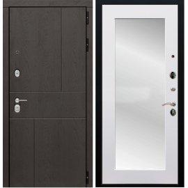 Входная металлическая дверь Сенатор Ультиматум СБ-122 Белый мат с зеркалом
