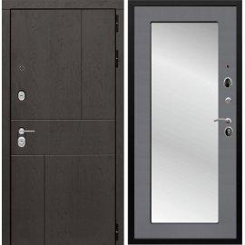 Входная металлическая дверь Сенатор Ультиматум СБ-122 Софт графит с зеркалом