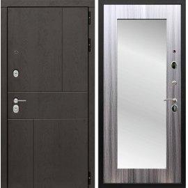 Входная металлическая дверь Сенатор Ультиматум СБ-122 Сандал серый с зеркалом