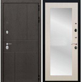 Входная металлическая дверь Сенатор Ультиматум СБ-122 Беленый дуб с зеркалом
