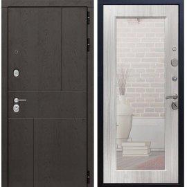 Входная металлическая дверь Сенатор Ультиматум СБ-122 Сандал белый с зеркалом