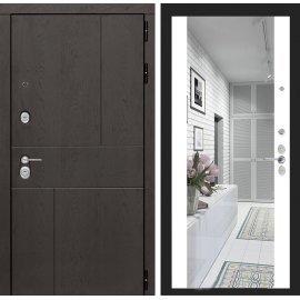 Входная металлическая дверь Сенатор Ультиматум ФЛ-16 с зеркалом Белый софт