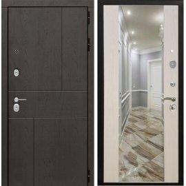 Входная металлическая дверь Сенатор Ультиматум СБ-16 Лиственница беж с зеркалом
