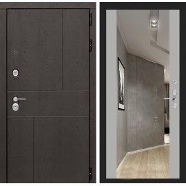 Входная металлическая дверь Сенатор Ультиматум ФЛ-16 с зеркалом Грей софт