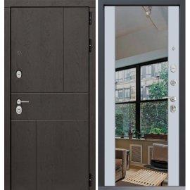 Входная металлическая дверь Сенатор Ультиматум СБ-16 Белый ясень с зеркалом