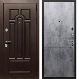 Входная дверь Сенатор Аллегро ФЛ-290 Бетон темный