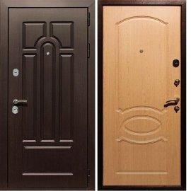 Входная дверь Сенатор Аллегро ФЛ-128 Дуб светлый
