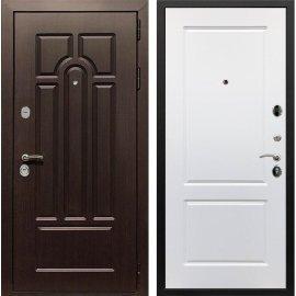 Входная дверь Сенатор Аллегро ФЛ-117 Белый силк сноу