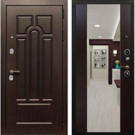 Входная дверь Сенатор Аллегро с Зеркалом СБ-16 Венге
