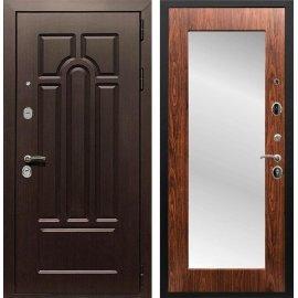 Входная дверь Сенатор Аллегро Пастораль с Зеркалом Берёза морёная
