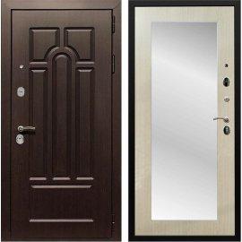 Входная дверь Сенатор Аллегро Пастораль с Зеркалом Дуб белёный