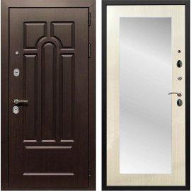 Входная дверь Сенатор Аллегро Пастораль с Зеркалом Лиственница беж