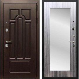 Входная дверь Сенатор Аллегро Пастораль с Зеркалом Сандал серый