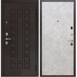 Входная дверь Сенатор с замком CISA 57.966 ФЛ-291 Бетон светлый