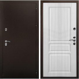 Входная металлическая дверь Терморазрыв Урал - 3К цвет - Сандал белый