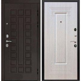 Входная дверь Сенатор с итальянским замком CISA 57.966 ФЛ-4 Беленый дуб