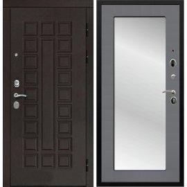 Входная дверь Сенатор с замком CISA 57.966 с ударопрочным Зеркалом Графит софт