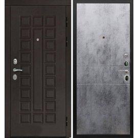 Входная дверь Сенатор с замком CISA 57.966 ФЛ-290 Бетон темный