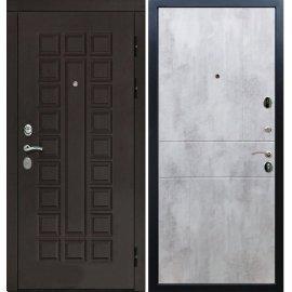 Входная дверь Сенатор с замком CISA 57.966 ФЛ-290 Бетон светлый