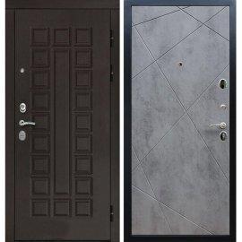 Входная дверь Сенатор с замком CISA 57.966 ФЛ-291 Бетон темный