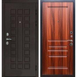 Входная дверь Сенатор с замком CISA 57.966 ФЛ-243 Итальянский Орех