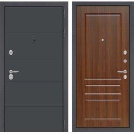 Входная стальная дверь Сенатор ART цвет 03 Орех бренди