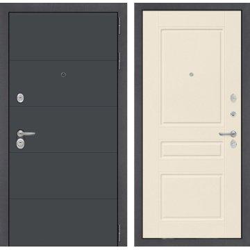 Входная стальная дверь Йошкар-Ола Сенатор ART цвет 03 Крем софт